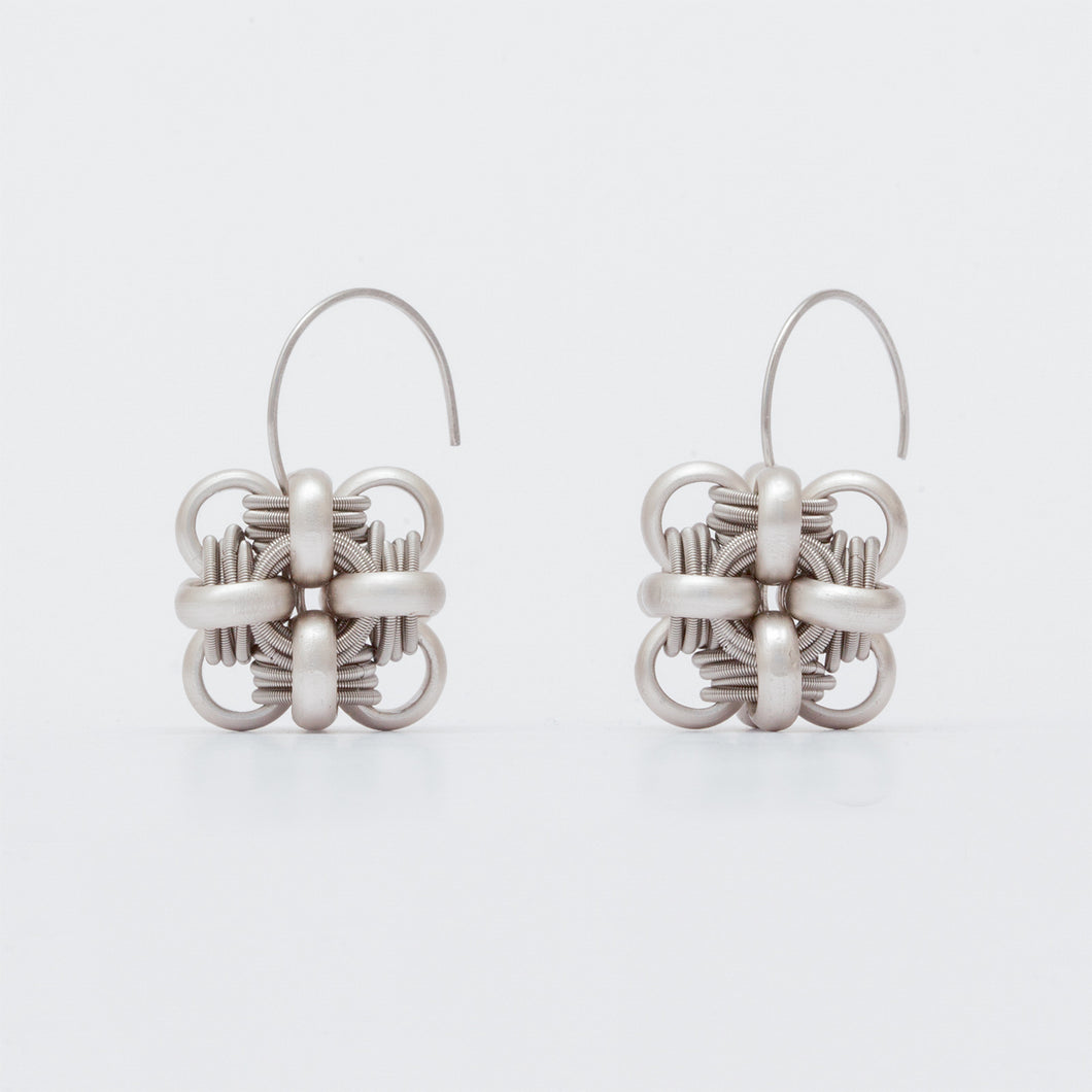 Orecchini Earrings Cubo Argento Silver  Brengola