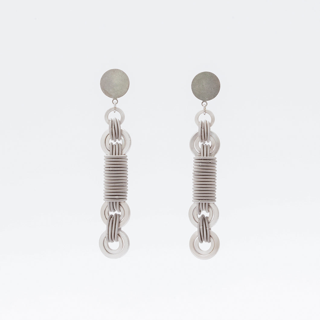 Anelli Earrings Rotaia Argento Silver Brengola