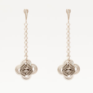 Orecchini Earrings Quadrilobo Argento Silver Brengpla