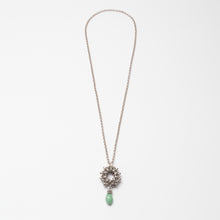 Load image into Gallery viewer, Collana Necklace Rosone Argento Silver Aqua Green Brengola