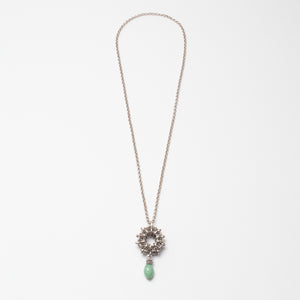 Collana Necklace Rosone Argento Silver Aqua Green Brengola