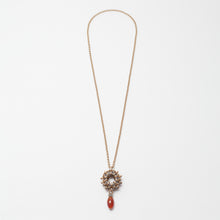 Load image into Gallery viewer, Collana Necklace Rosone Ottone Brass Carnelian Brengola