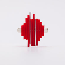 Load image into Gallery viewer, Anello Ring Acciaio Stell Silicone Rosso Red Brengola