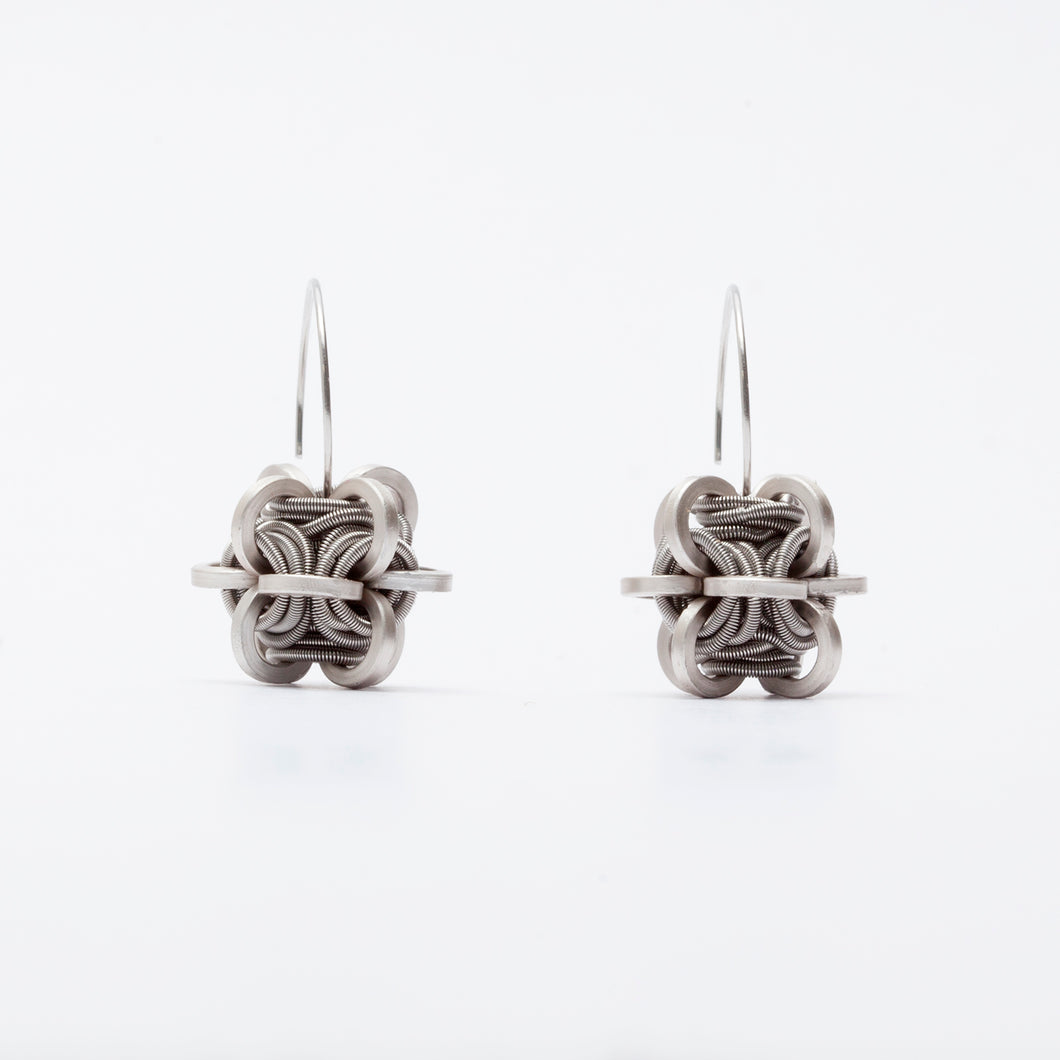 Orecchini Earrings Cubo Piccolo Argento Silver  Brengola