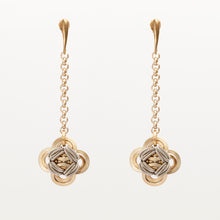 Load image into Gallery viewer, Orecchini Earrings Quadrilobo Ottone Brass Brengpla