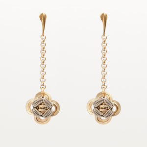 Orecchini Earrings Quadrilobo Ottone Brass Brengpla