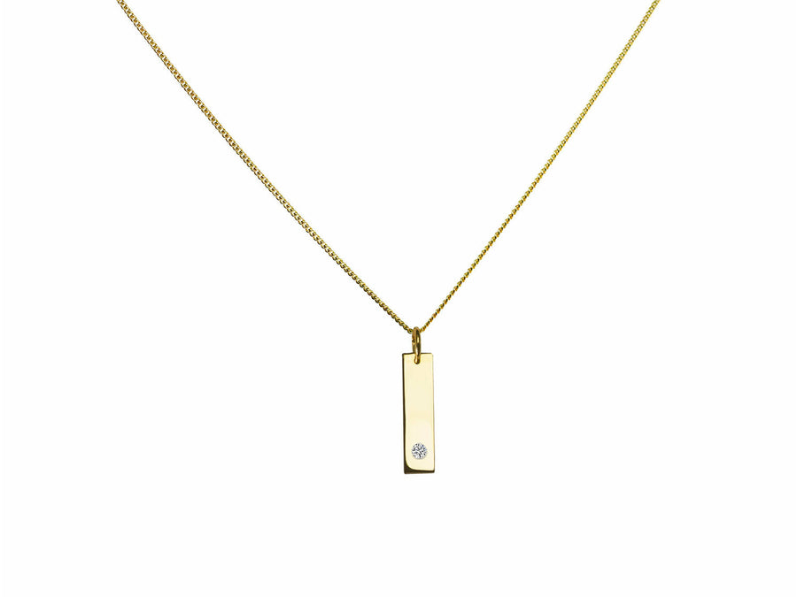 Gold Bar Necklace necklaces Eliise Maar Fine Jewellery Australia