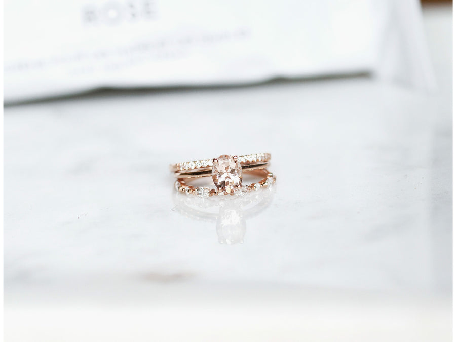 Dainty Love Morganite Rose
