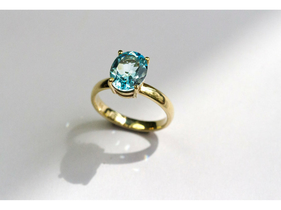 Lavish Blue Topaz Ring