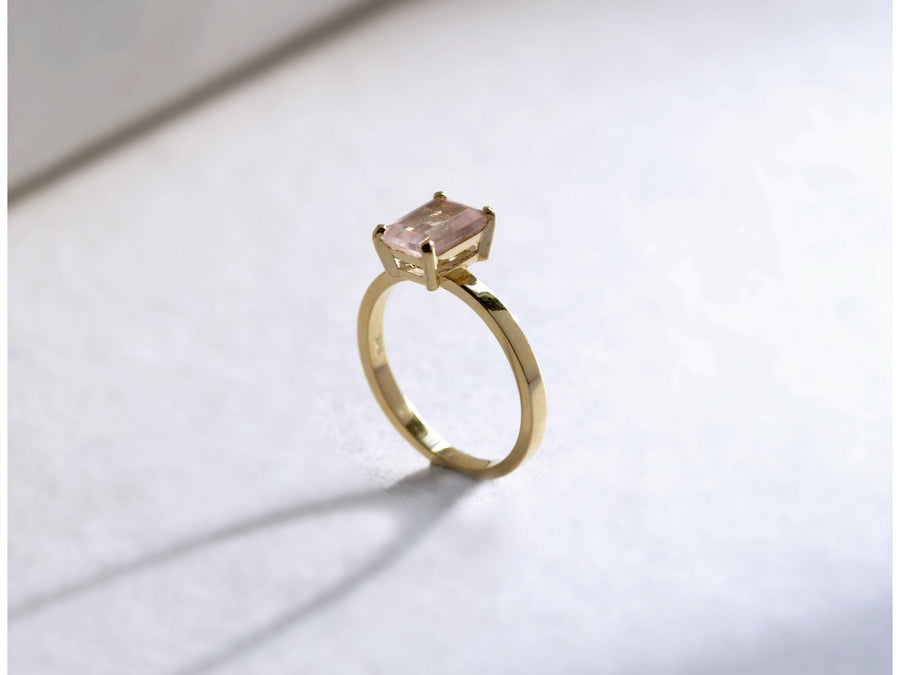 Diana Rose Quartz Ring