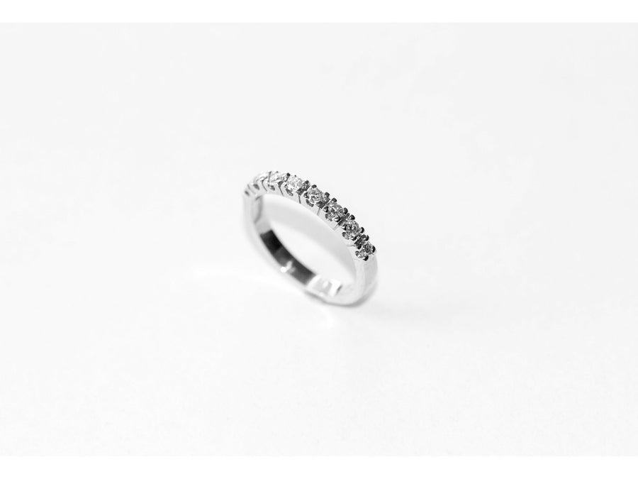 SAMPLE, Lavish Diamond Band White, Size J 1/2 (15.7)