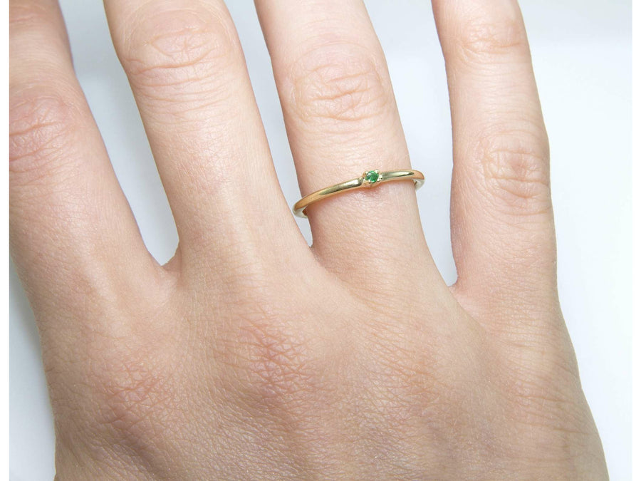 Fine Emerald Ring-Eliise Maar Jewellery-Handcrafted Jewellery in Melbourne