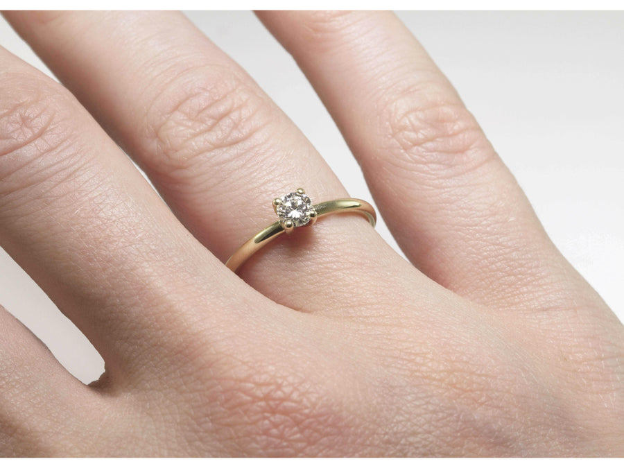 The Classic Diamond Ring-Eliise Maar Jewellery-Handcrafted Jewellery in Melbourne