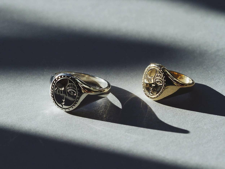 The Storytellers Signet Ring White-Eliise Maar Jewellery-Handcrafted Jewellery in Melbourne