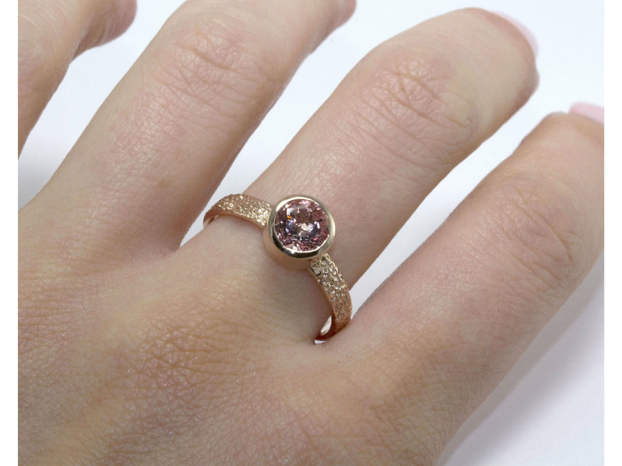 Thin Frost Morganite-Eliise Maar Jewellery-Handcrafted Jewellery in Melbourne