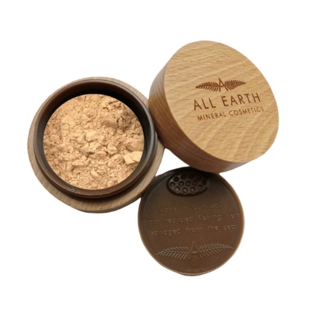 VEGAN AND CRUELTY FREE MINERAL FOUNDATION 8GR - (With the coverage that the foundation offers along with its anti inflammatory benefits also makes it perfect for rosacea prone skin) - natoorio