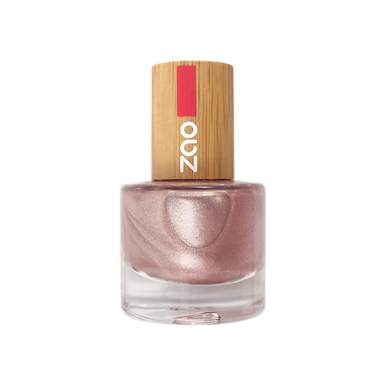 Pink Champagne Nail Polish, Palm oil free, without any toxic ingredients - natoorio