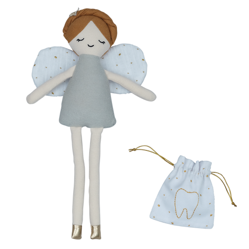 Doll - Tooth Fairy With Pouch -  100% Organic Cotton - natoorio