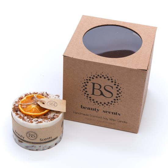 Cinnamon & Lime Scented Natural Wax Candle with Cinnamon Shredded Sticks D 7.5 cm H 5 cm (gift set of 2) PRE-ORDER, delivery around 20th of November - natoorio