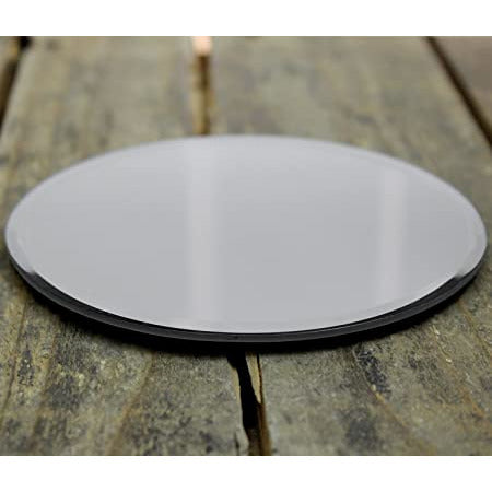 NEW Candle Plate Holder round (Mirrored Glass) - natoorio