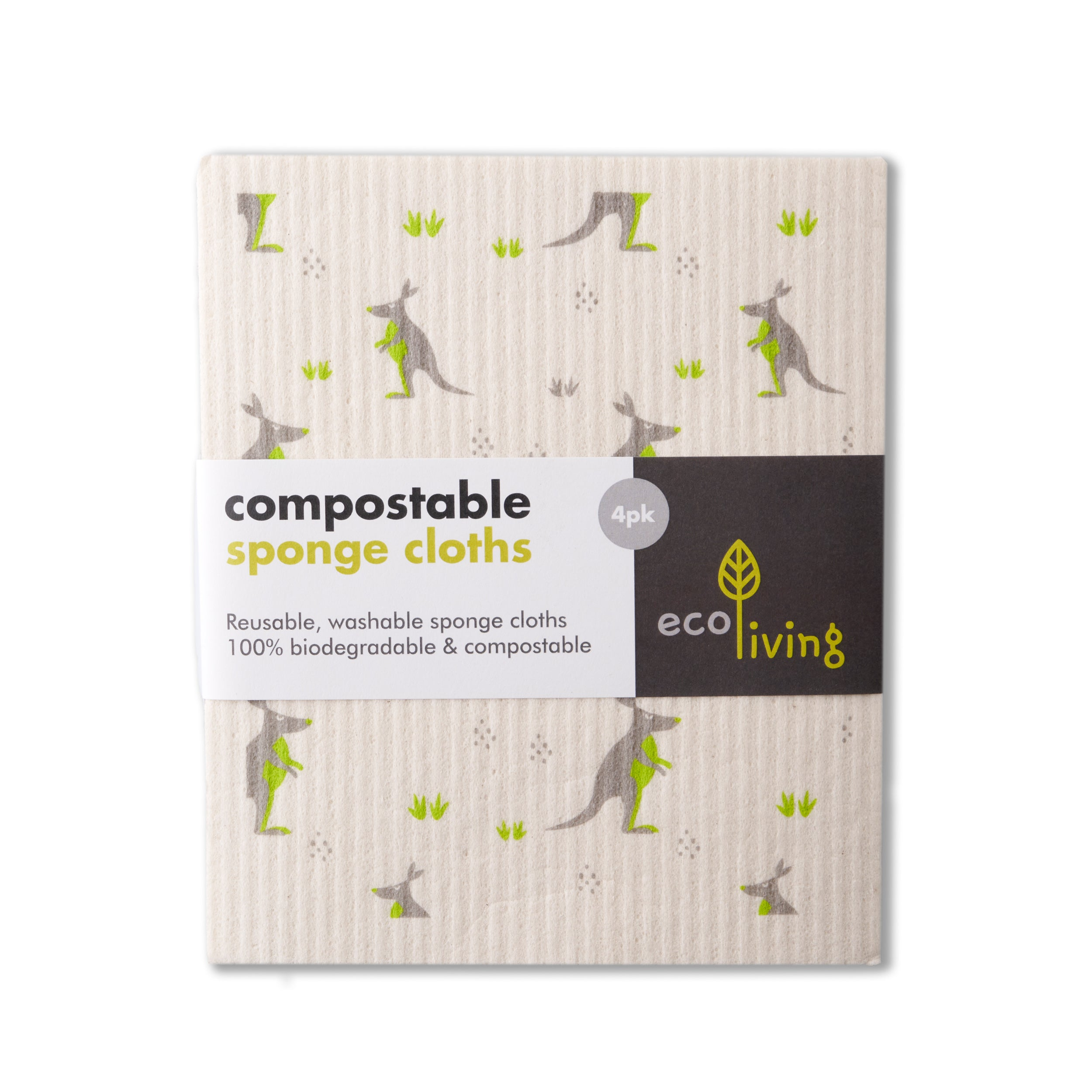 Kitchen Compostable Sponge Cleaning Cloths (set of 2) 100% plastic-free and vegan - natoorio