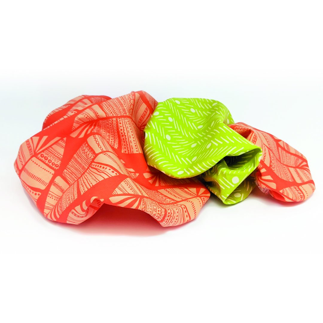 Biodegradable Bowl Covers - Set of 3 (Cotton and natural rubber) - natoorio