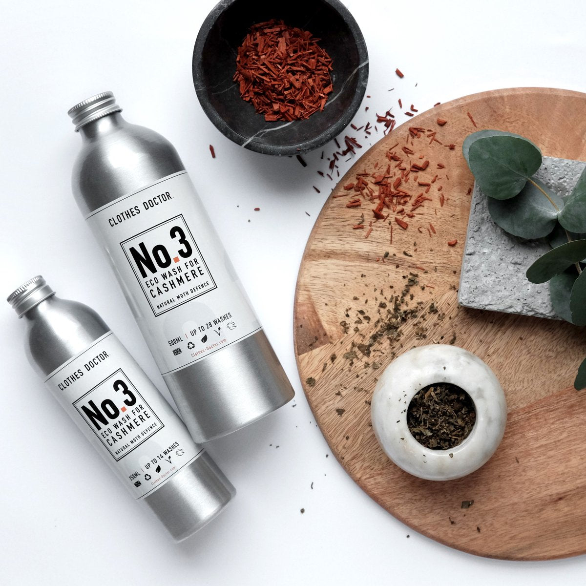 PLASTIC FREE, LUXURY SET OF FOUR ECO WASHES (in 500ml), effective at stain removal, Nourish and protect,  refreshes and renews. - natoorio