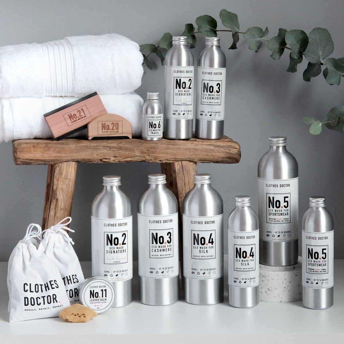 COMPLETE CLOTHING CARE KIT Clean (in 250ml), nourish, and revive your clothes with plant derived ingredients and blissful fragrances that are packed inside plastic-free bottles.