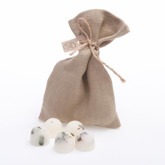 Jasmine Scented Soy Wax Melts in Grey Bag of 10 each - natoorio