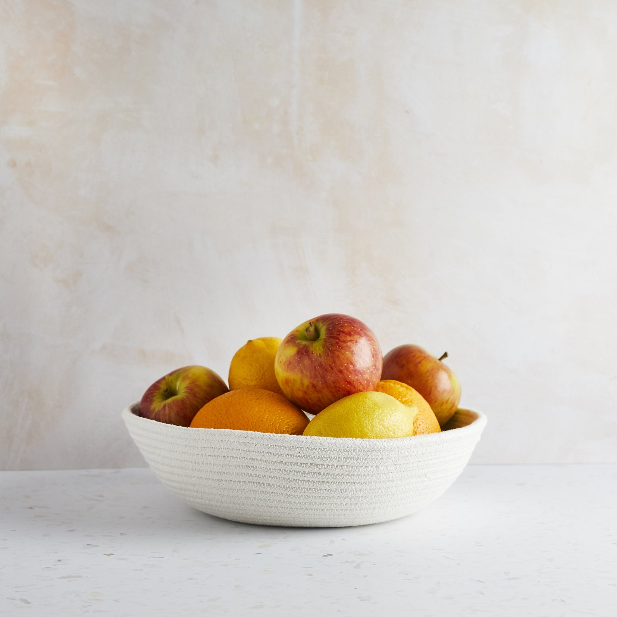 100% Cotton ECO-TWIST Fruit Bowl (25cm across, 8cm) - natoorio