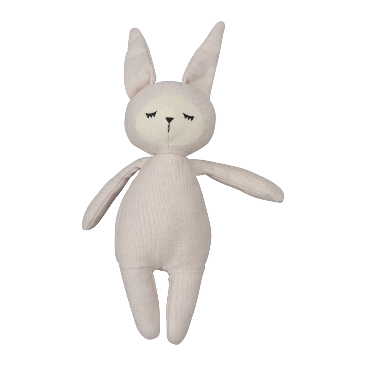 Buddy Bunny light grey pink (28cm) 100% GOT (the global organic textile standard) certified - natoorio