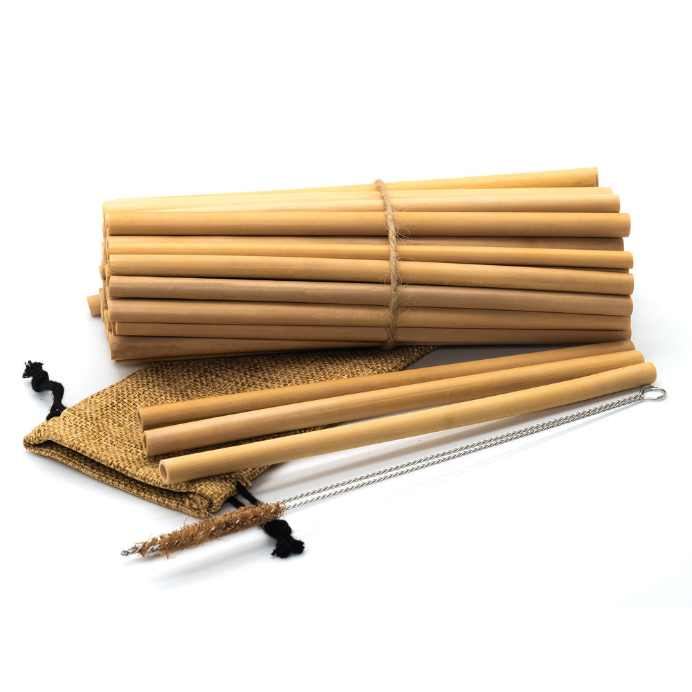 JUNGLE STRAWS BULK BAMBOO STRAWS WHOLESALE & RETAIL PACKS (50 NON-ENGRAVED), PLASTIC FREE, ECO-FRIENDLY - natoorio