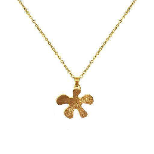 Mermaid Flower 24K Gold Plated Necklace - natoorio
