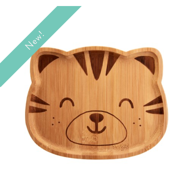 TIGER BAMBOO PLATE - KIDS - 100% planet-friendly bamboo - natoorio