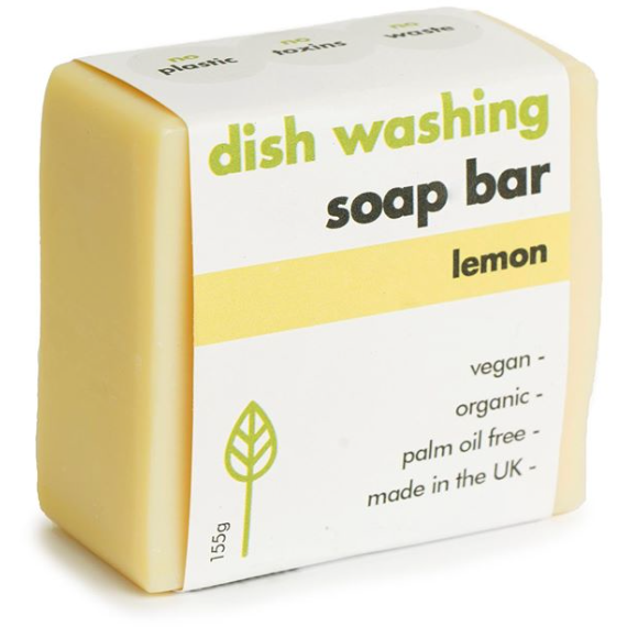 Washing-Up Soap Bar - Lemon 155g (plant-based ingredients) - natoorio