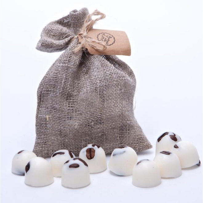Vanilla & Coffee  Scented Soy Wax Melts in Grey Bag of 10 each - natoorio