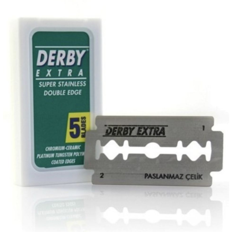 Safety Razor Blades: Premium Derby Bamboo Safety Razor Blades (Pack of 10)