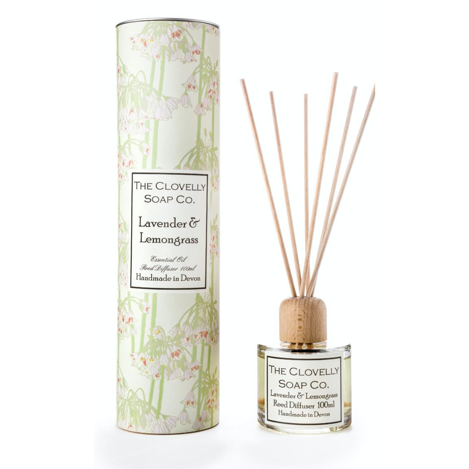 Lavender & Lemongrass Reed Diffuser, made using eco friendly Augeo diffuser liquid and Pure Therapeutic Grade Essential Oils - natoorio