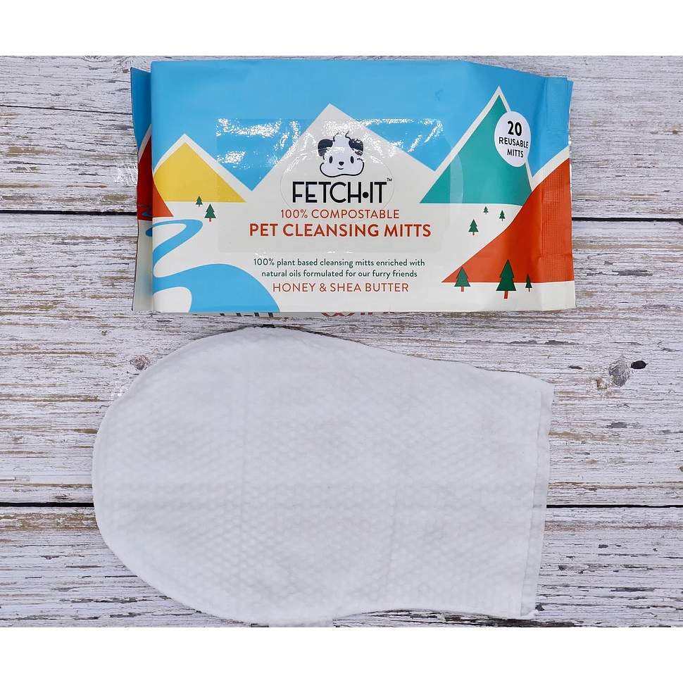 100% Compostable Plant Based Mitts (Wipes), EN13432 certified - natoorio