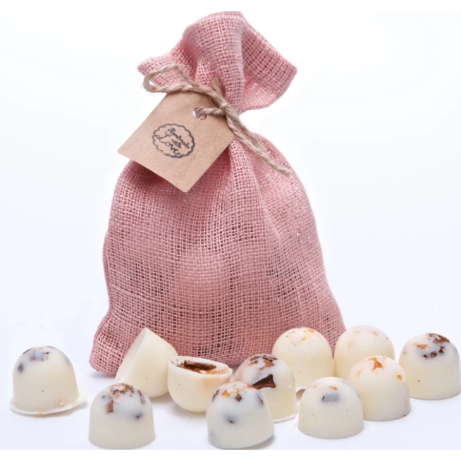 champagne & roses Scented Soy Wax Melts in pink Bag of 10 each - natoorio