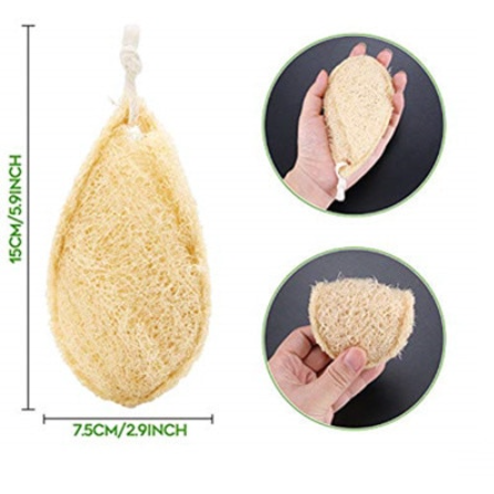100% Natural Loofah Kitchen Sponge Pads / multipurpose use - natoorio