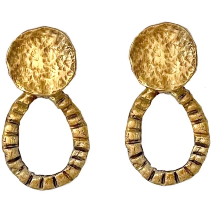Minos Earrings 24K gold plating over 925 Recycled Silver, Made to order- 10 days lead time - natoorio