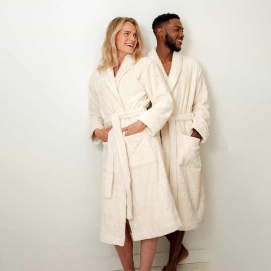 Organic Cotton Bathrobe, 100% organic unbleached cotton - natoorio