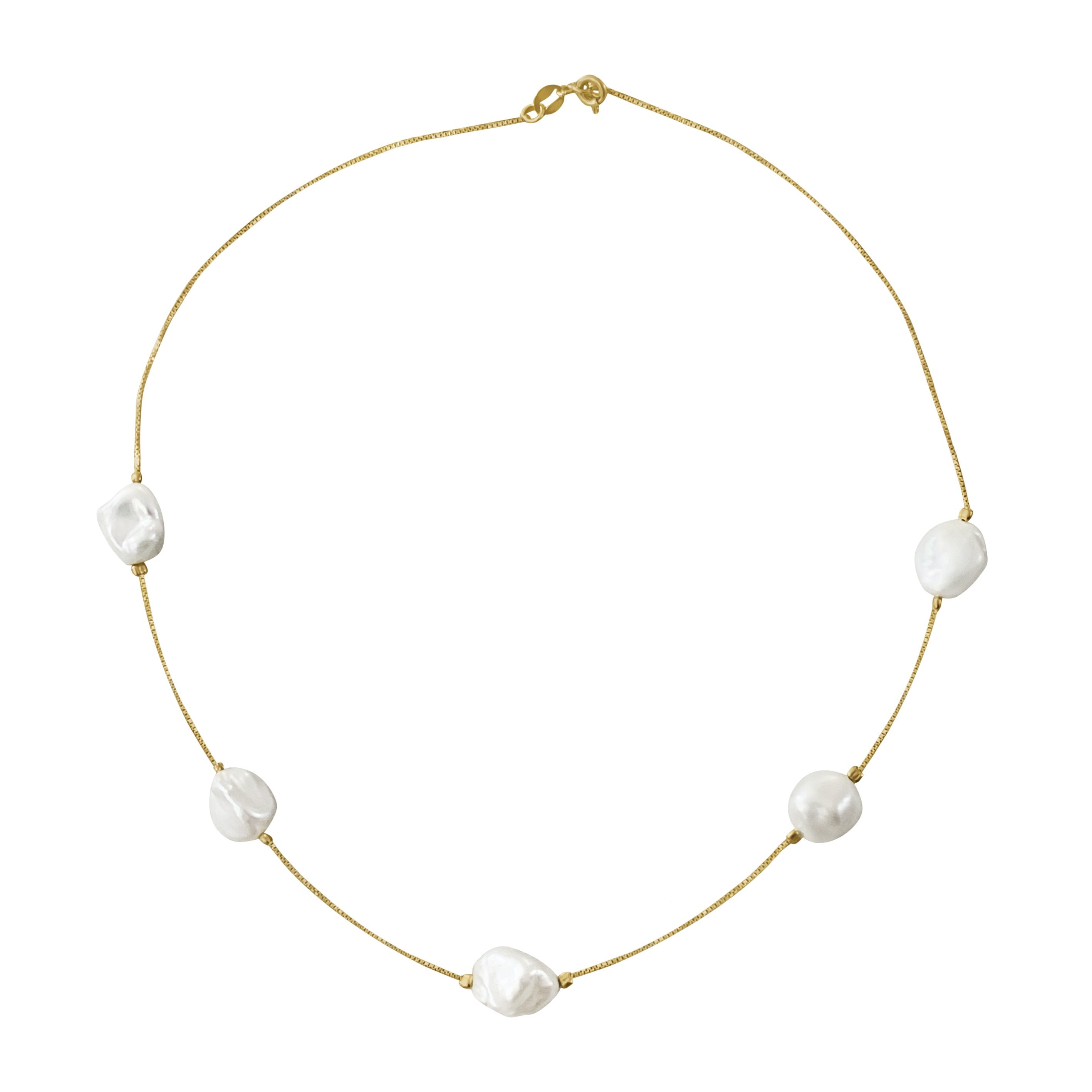 Sirens Pearls Gold Plated Necklace - natoorio