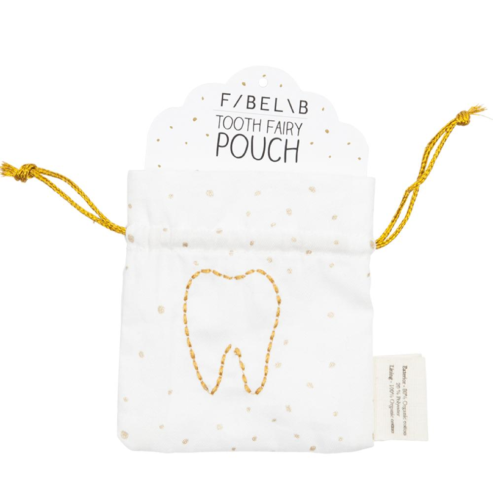 Kids Tooth Fairy Pouch, 100% Organic cotton - natoorio