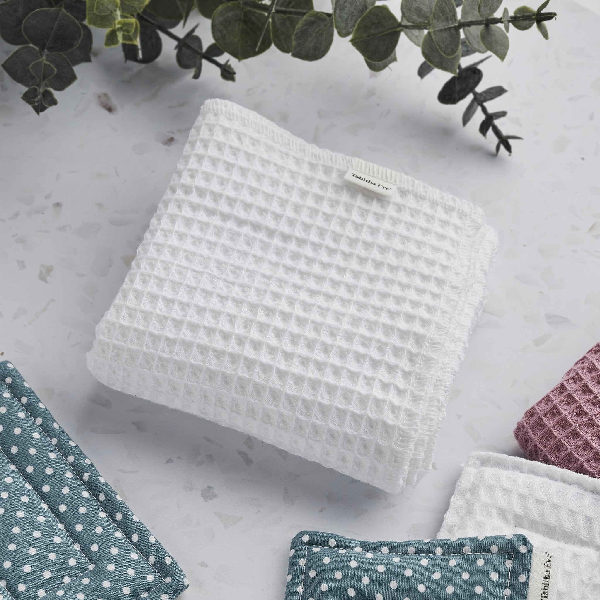 100% Cotton Unpaper Towels - Waffle (set of 10) - A replacement for your single use paper kitchen roll - natoorio