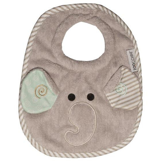 Baby Feeding Bibs - Ellie the Elephant - 100% Cotton | Machine Washable - natoorio