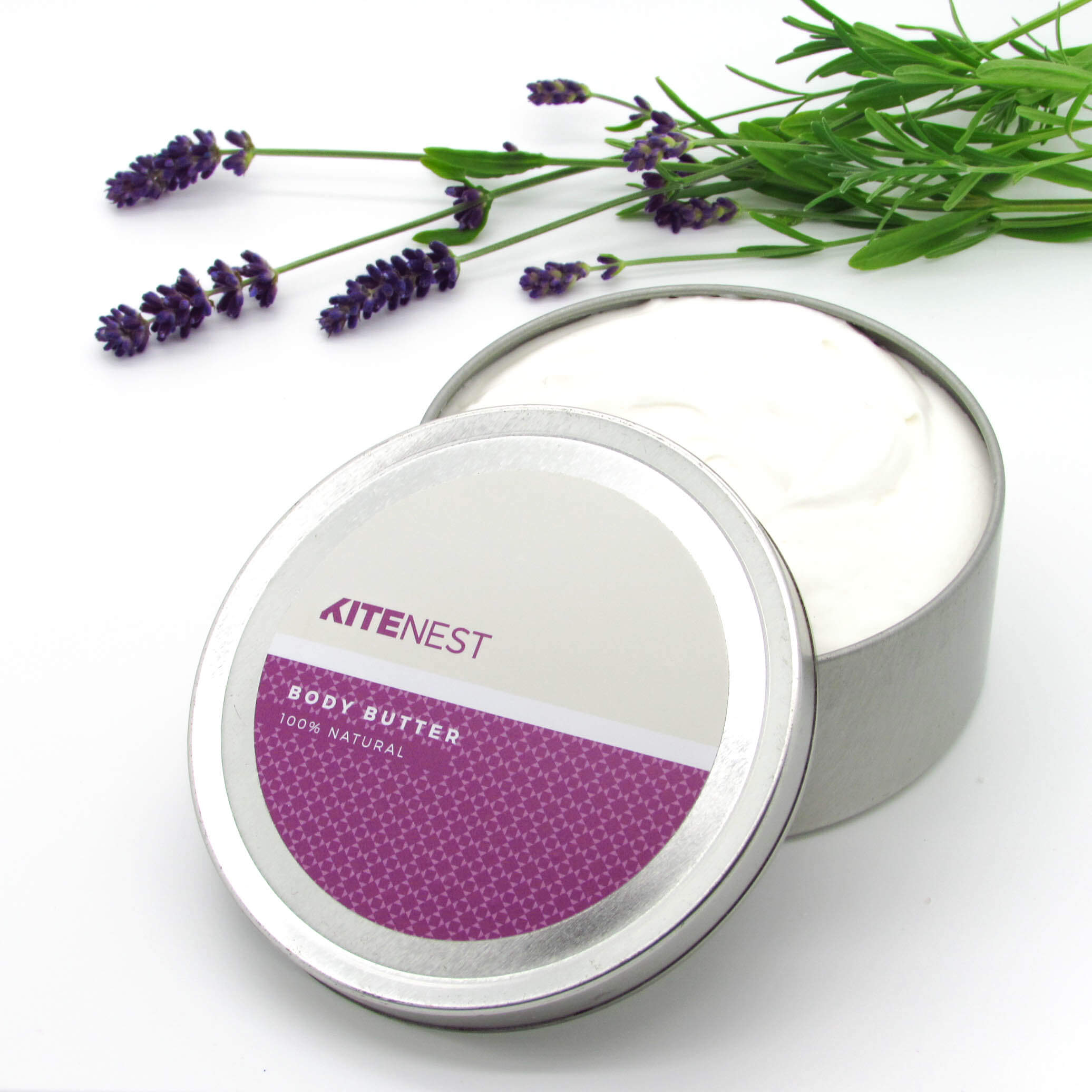 LAVENDER BODY BUTTER 240ML, 100% Natural - natoorio