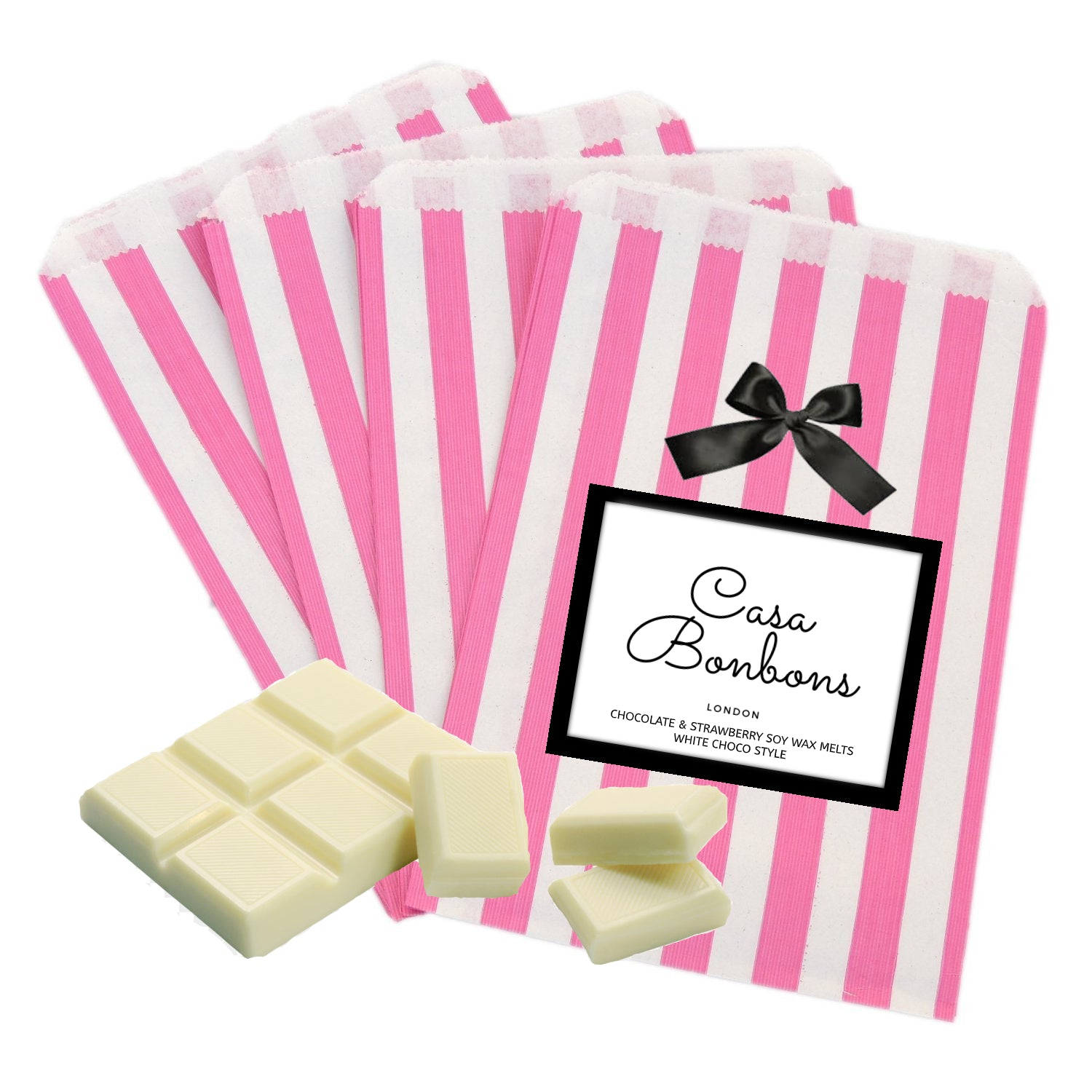 Chocolate & Strawberry gentle scented white chocolate style Soy Wax Melts,  PRE ORDER delivery end of February - natoorio
