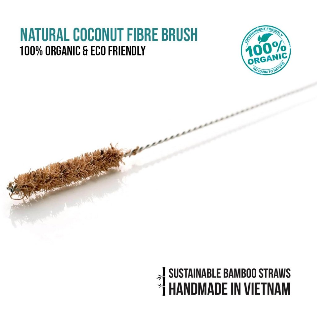 JUNGLE STRAWS: REUSABLE STRAW CLEANING BRUSH - (COCONUT FIBRE) - natoorio